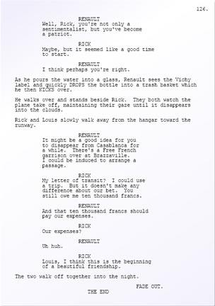 Casablanca screenplay - page 126