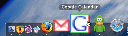 Google Calendar configured as a Prism app