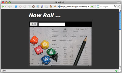A screenshot of the Now Roll... home page