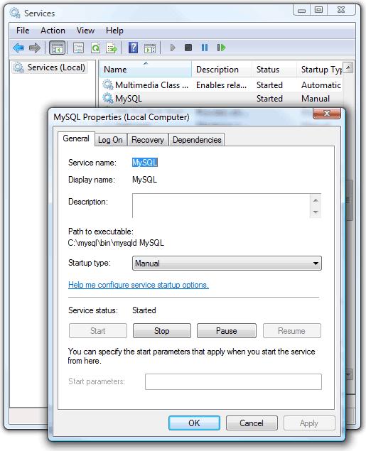 MySQL service