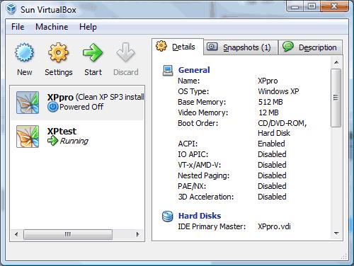 VirtualBox VM Manager
