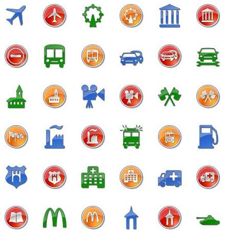 vector poi icons preview