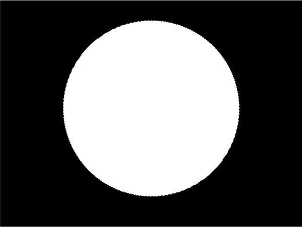 Black Background White Circle