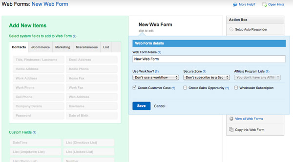 New Web Form