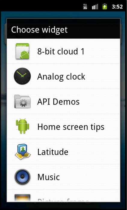 Android Widget Figure 3