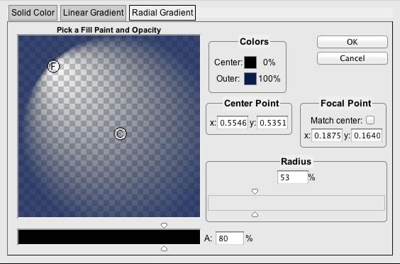 Radial gradients in SVG