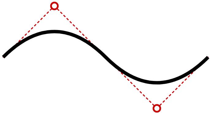 continuing quadratic Bézier curve