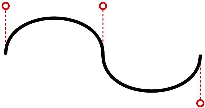 continuing cubic Bézier curve
