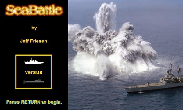 SeaBattle Title Screen