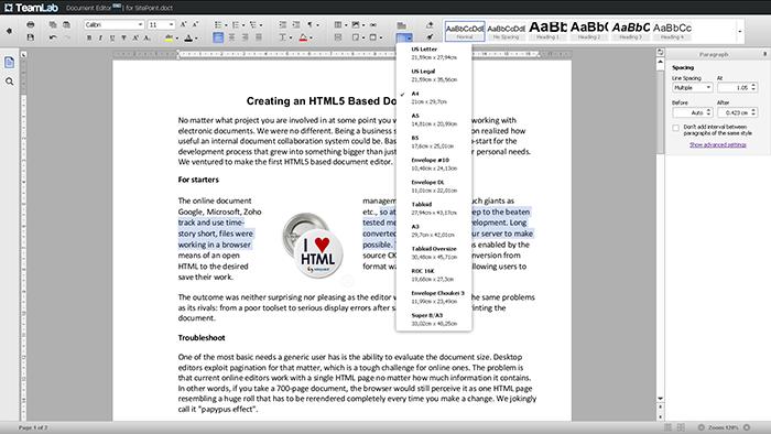 html5 editor screenshot