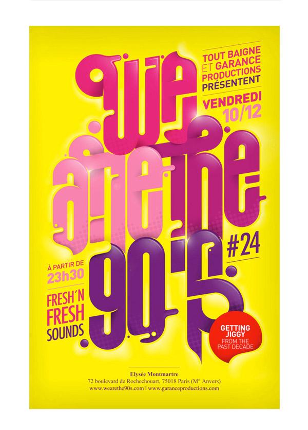 Nineties Event Flyer