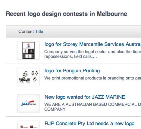 Logo contests, melbourne