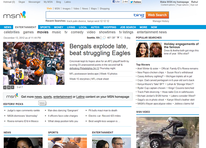The Old MSN.com