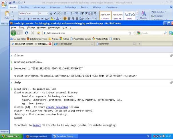 jsconsole screenshot