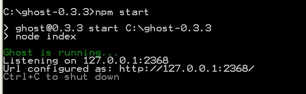 start Ghost