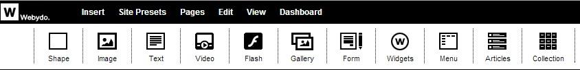 Webydo toolbar