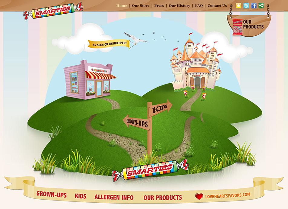 Screenshot: Smarties.com