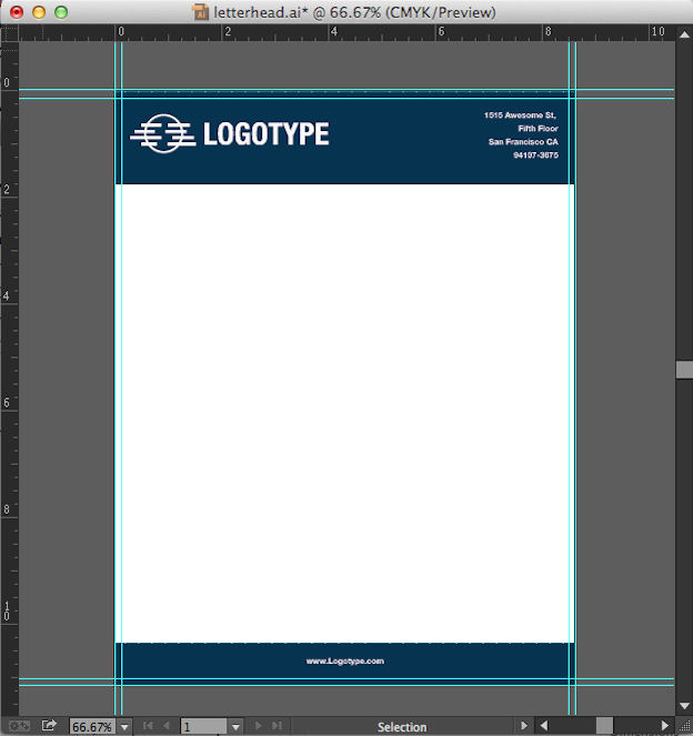 Set up your design Convert your letterhead design into an editable MS Word template