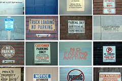 A collection a rules on signs