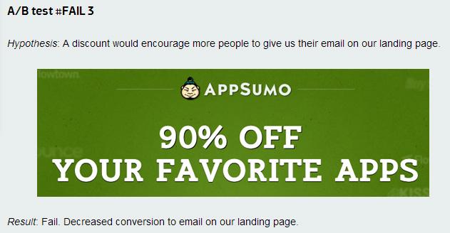 AppSumo Failed Test