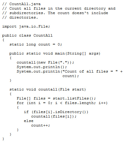 The CountAll.java code listing is replaced by this image.