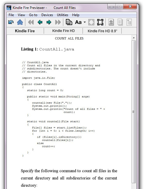 The CountAll.java code listing is replaced by an image of the listing.