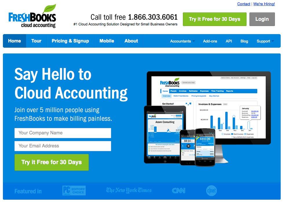 Website: Freshbooks.com