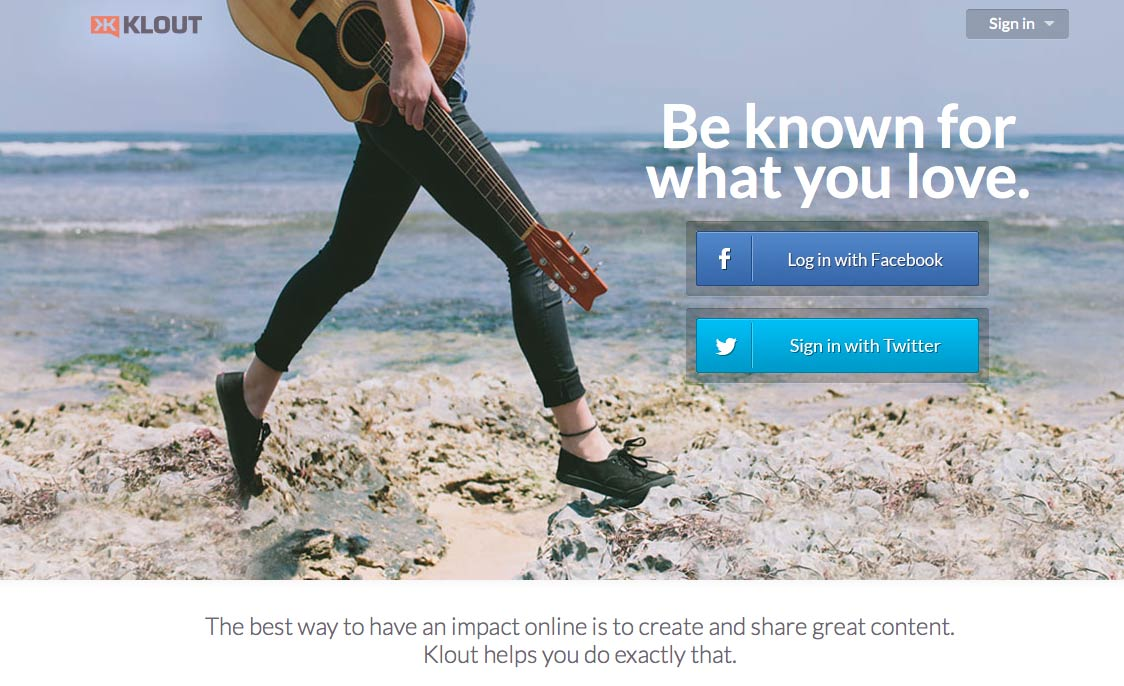 Website: Klout.com