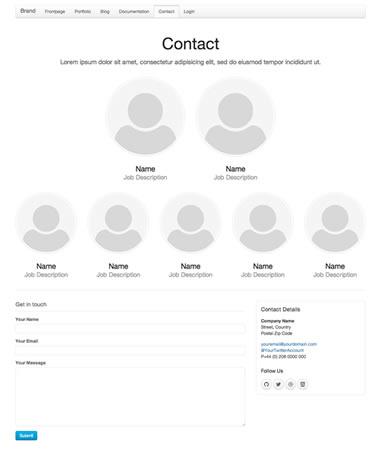 UIKit's Contact template