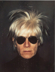 Photo: Portrait of Andy Warhol