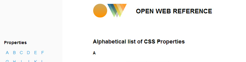 Open Web CSS Reference