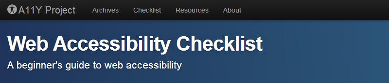 Web Accessibility Checklist