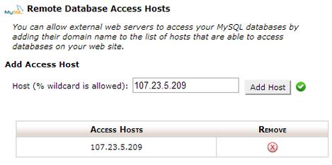 Remote DB Access Host