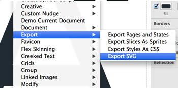 Export SVG extension for Fireworks