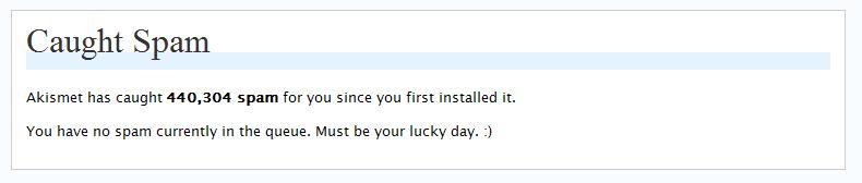 Akismet spam filtering service