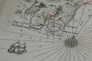 Section of an ancient sailors map