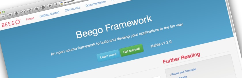 Developing a web application with Beego - Part 1