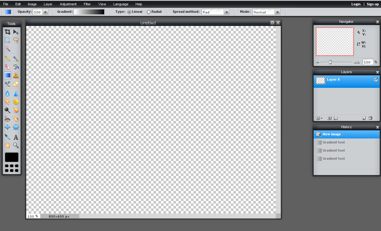 01 - Pixlr - 02 Main Screen