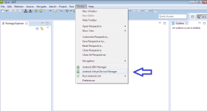 Open Android Virtual Device Manager from Eclipse - Window menu