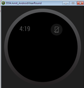 Date and disconnected phone icon shows it is successfully implemented