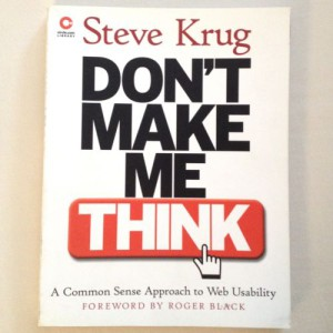 Book: Don't Make Me Think - Steve Krug