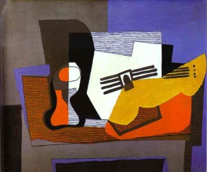 """Pablo Picasso """"Still Life with Guitar"""""""