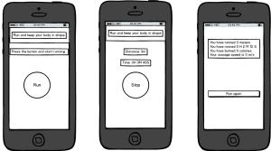 Runner App mockup