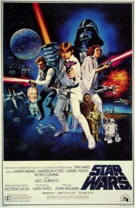 The original 1977 Star Wars poster