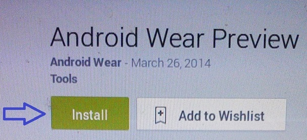 Login to the Google Play Store from your developer Gmail Account and install Android Wear Preview