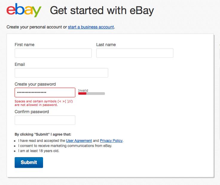 Ebay's login system