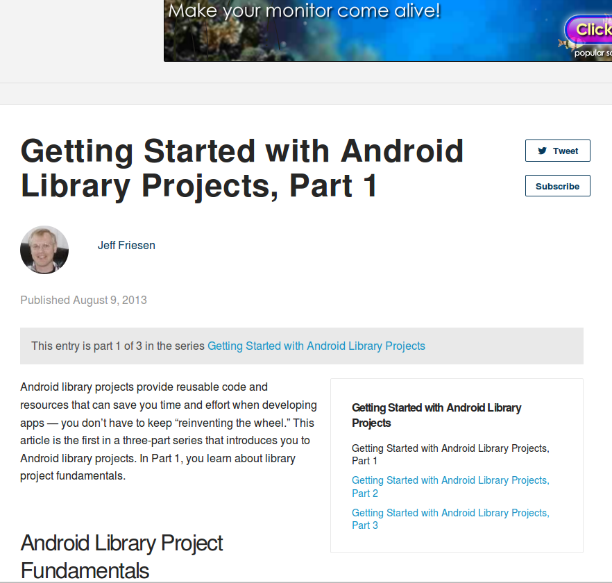 12 - Android Library Projects