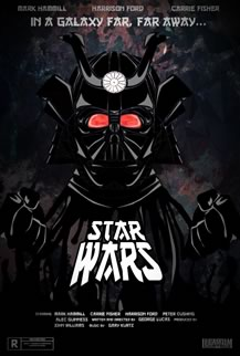 Gabrielle's re-imagined Star Wars Poster