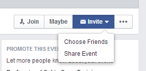 Adding personal contacts to an event