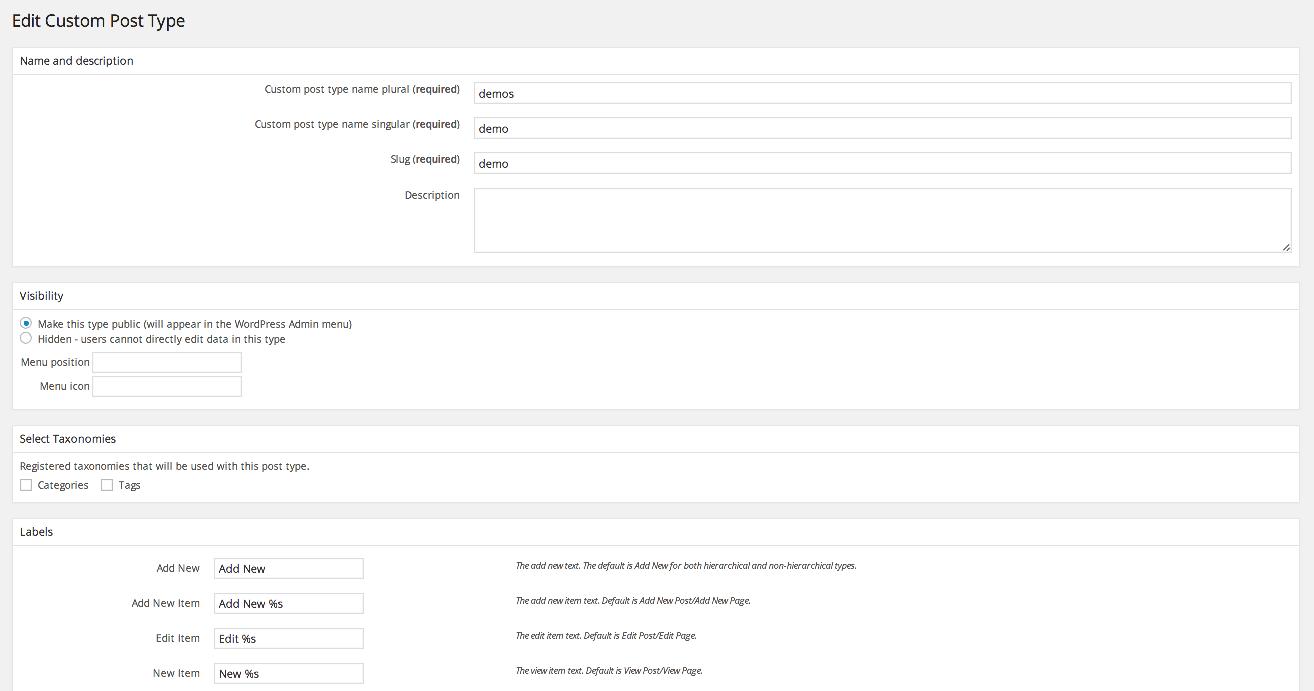 The Types WordPress Plugin